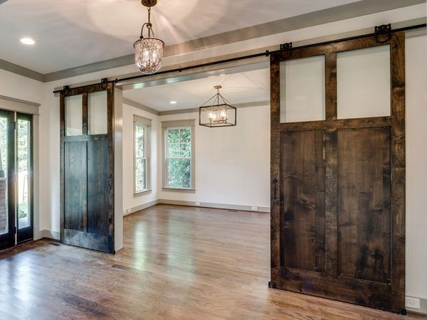 Barn Doors used to divide rooms